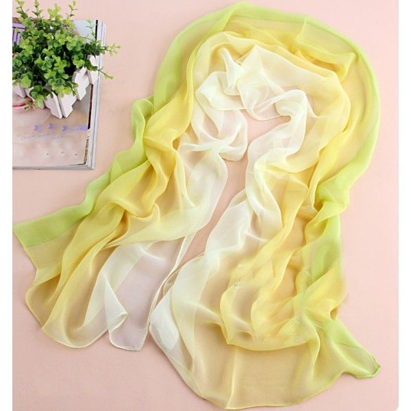 Cool! yellow fix green tie-dye gradient infinity scarf just $15.9 from AtWish.com! I can't wait to get it!