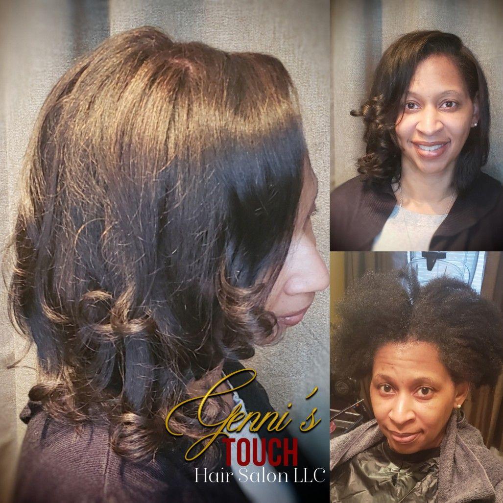 Silkpress Transformation Hair Transformation Natural Hair Styles Hair Salon