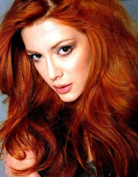 hair red Elena satine