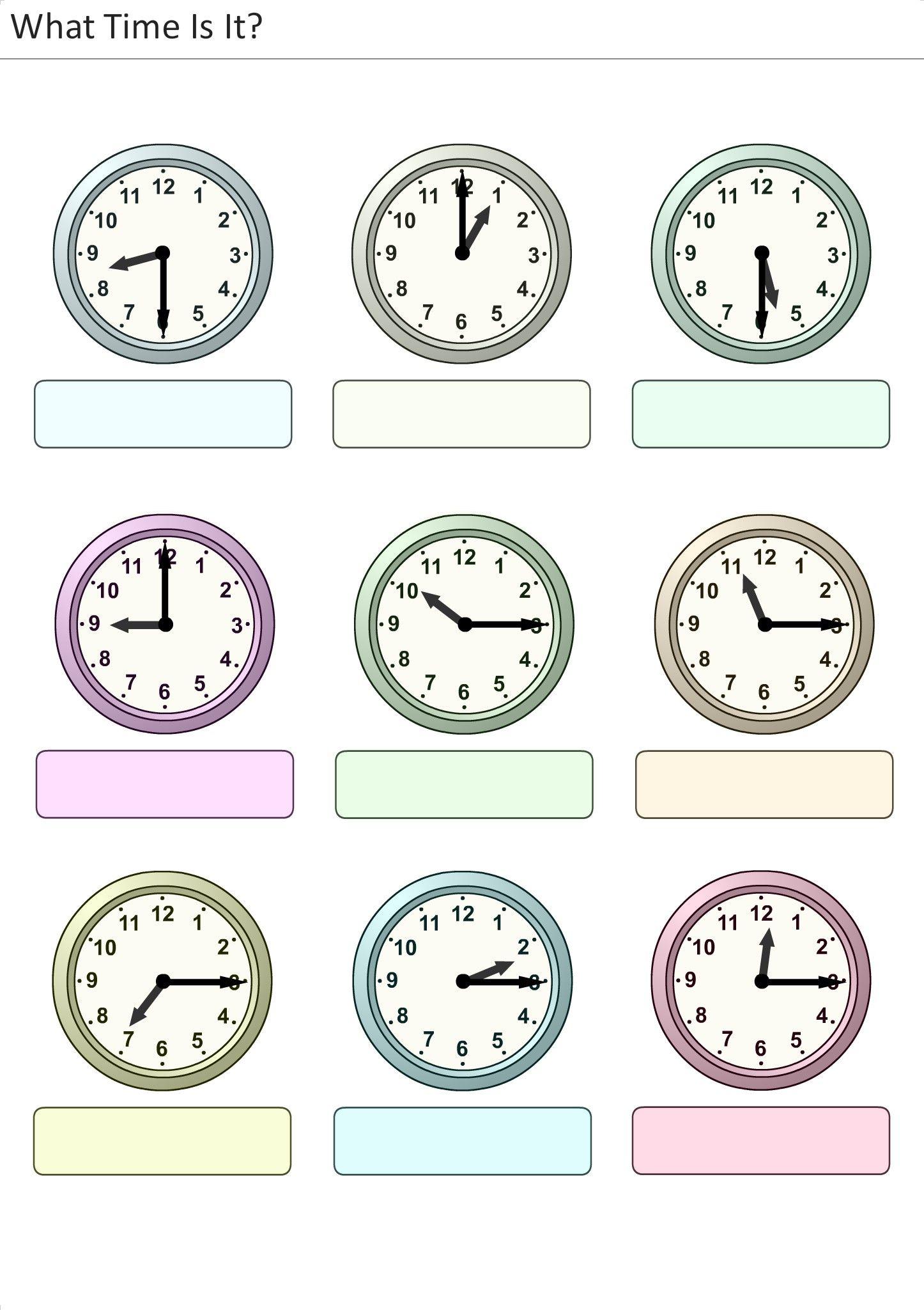 Actividades para ni os preescolar primaria e inicial - Relojes de pared ...
