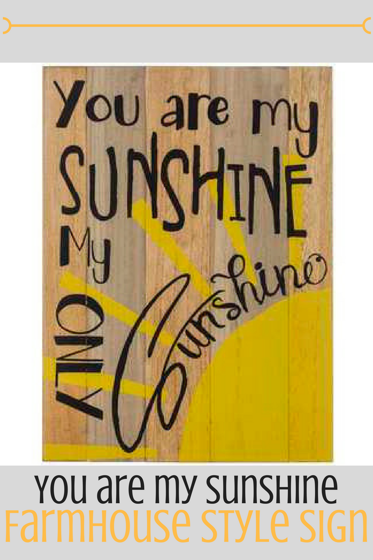 "You are my Sunshine"" Farmhouse Style Sign | Fixer Upper | Home Decor ..."