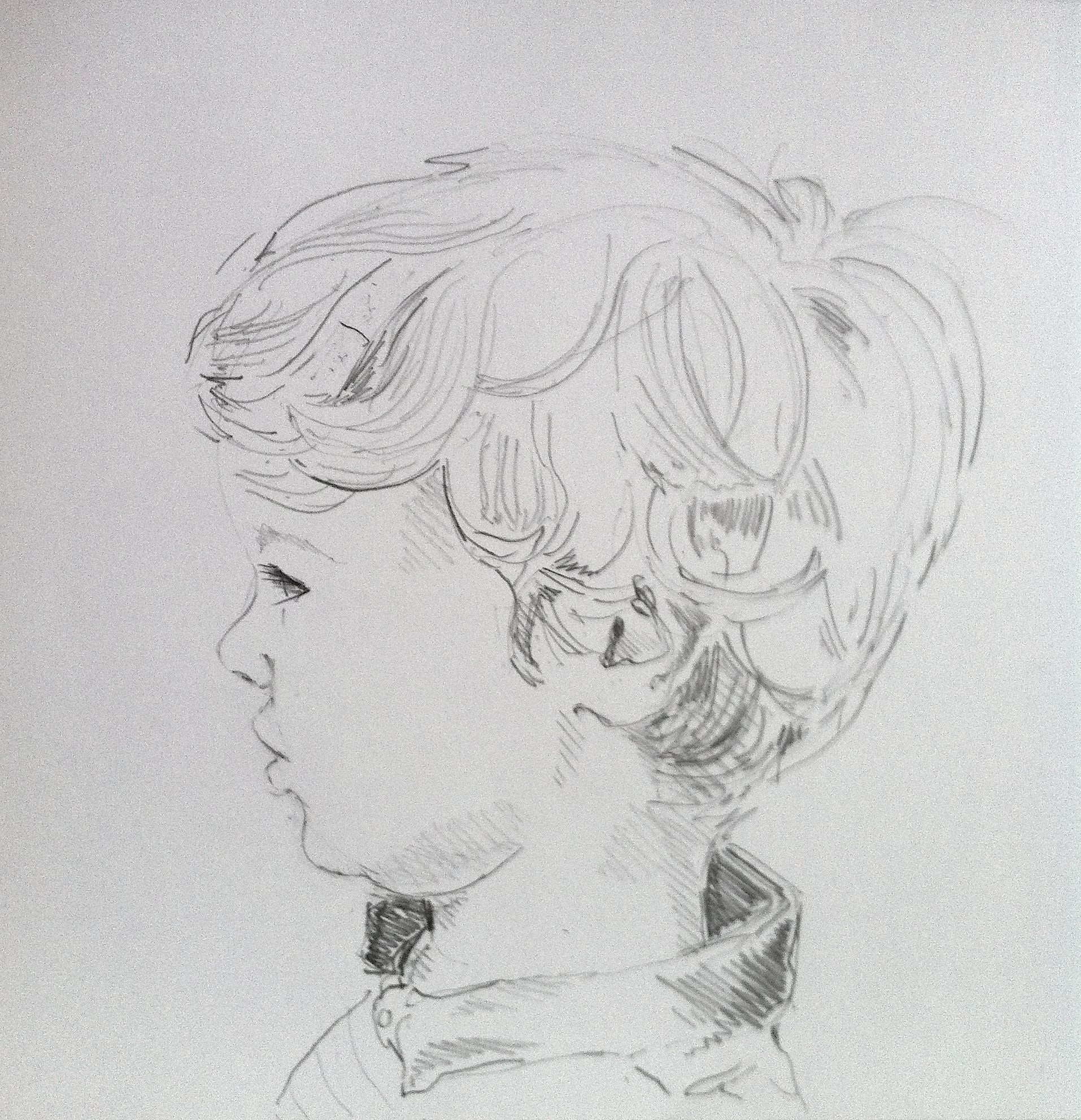 I Just Love The Back Of This Boy S Head Portrait Commission At Www Amyshuckburgh Com Portrait Portraiture Male Sketch