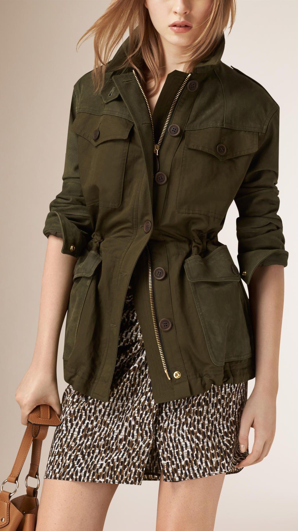 Nubuck Sleeve Cotton Linen Field Jacket Spring Outerwear Women Spring Outfits Casual Minimalist Fashion Women [ 1849 x 1040 Pixel ]