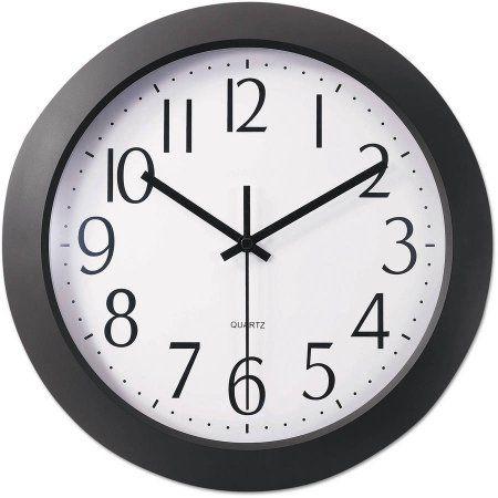 Universal One Whisper Quiet Clock 12 Black Walmart Com Black Wall Clock Atomic Wall Clock Contemporary Wall Clock