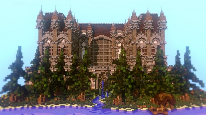 Fantasy Mansion Plot Minecraft Building Inc