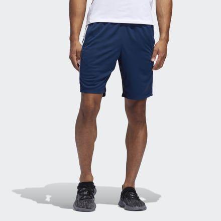 4KRFT Sport Heather 3 Stripes Shorts Dark Blue Mens