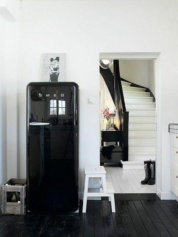 Frigo Smeg Nero | Living room | Pinterest | Smeg fridge ...