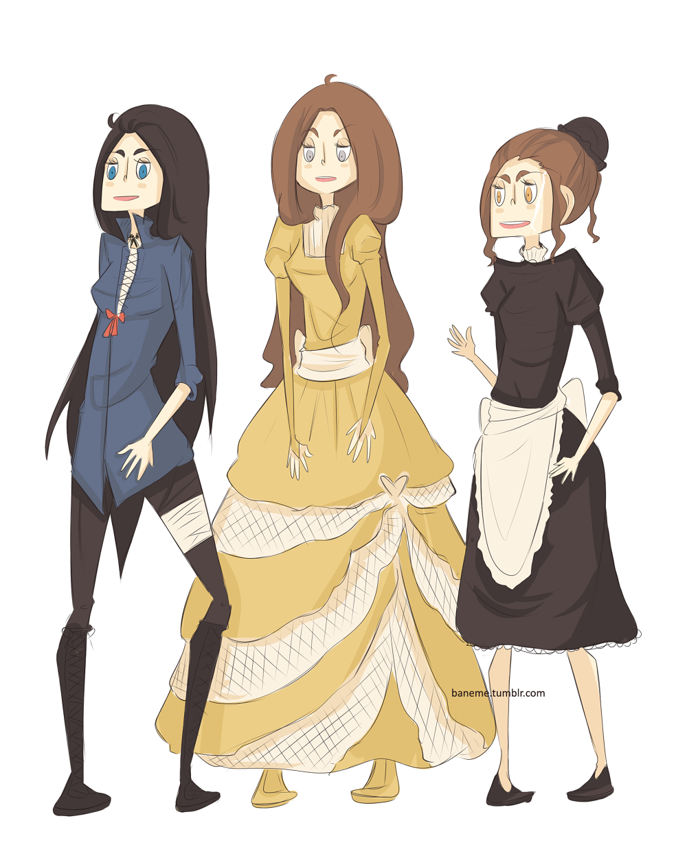 Cecily Herondale, Tessa Grey, and Sophie Collins