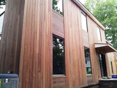 Could use a similar vertical horizontal contrast to for Horizontal cedar siding