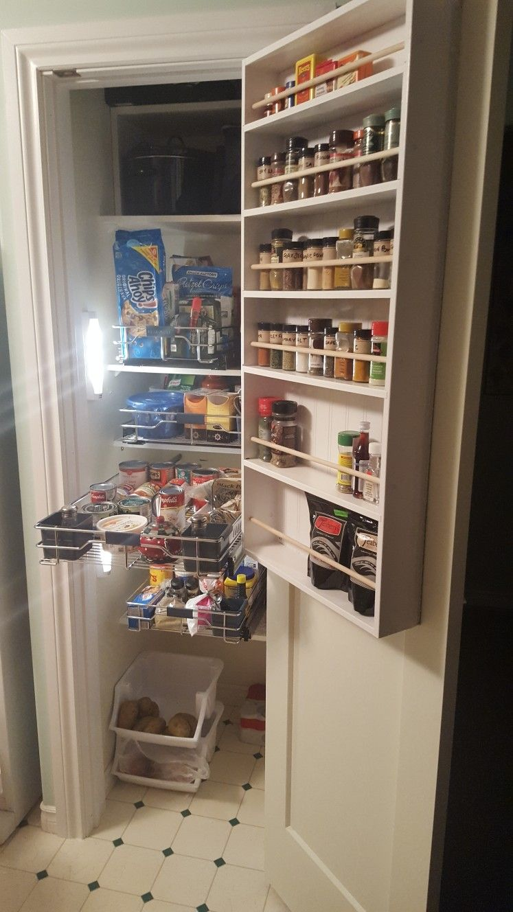 awesome small closet pantry from bi fold door to door conversion rh pinterest com