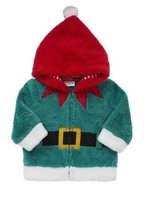 Tesco direct: F&F Elf Fleece Zip-Through Hoodie | Kids Inc ...