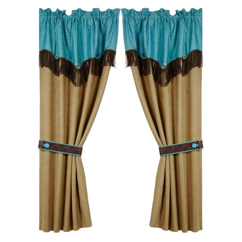 Montana Drape Set In 2020 Western Curtains Country House Decor