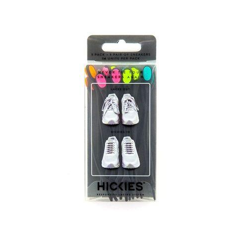 Photo of Hickies No-Tie Elastic Shoelaces – Black Multicolor