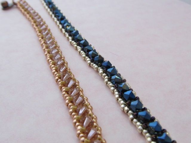 Poor Man S Tennis Bracelet In Copper And Blue Fine