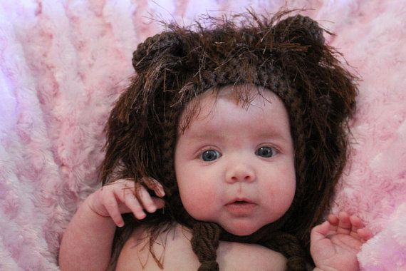 Lion Hat Baby Lion Animal Hat Crochet Baby by SweetnessInSmyrna ...