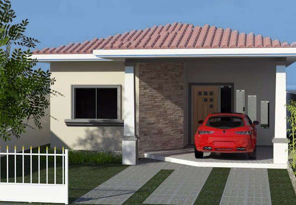 fachadas-de-casas-pequenas-varanda planos quinchos y casas