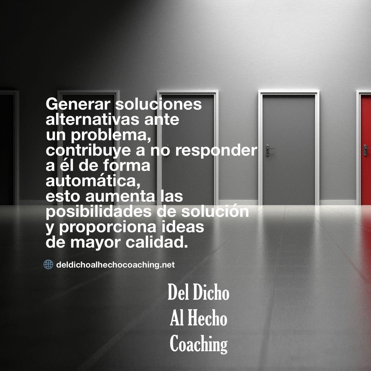 Generar soluciones alternativas ante un problema proporciona ideas de mayor calidad!    #Coaching #DesarrolloHumuano #InteligenciaEmocional #Bienestar