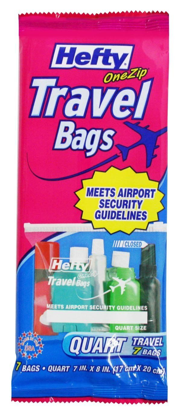 Hefty One Zip Travel Bags Quart Size ** Insider's special