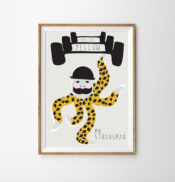 Strongman Octopus Hello Yellow