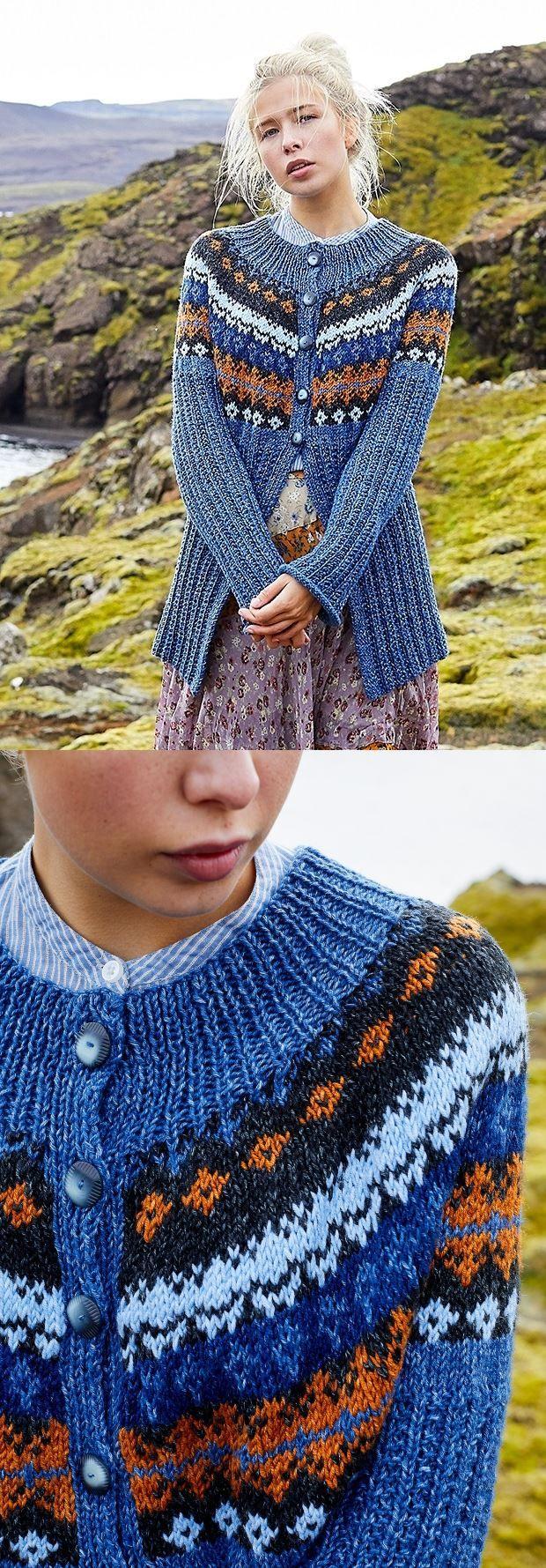 Free Knitting Pattern for a Petrine Cardigan | Fair isle ...