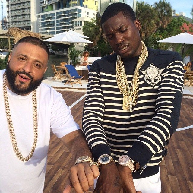 """Meek Mill on set of DJ Khaled's """"They Don't Love You No More"""" Video in Prada & Balmain"""