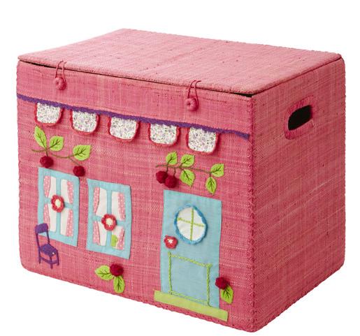 rafia et tissu coffre rangement jouets rangement jouet coffre et coffre jouets. Black Bedroom Furniture Sets. Home Design Ideas