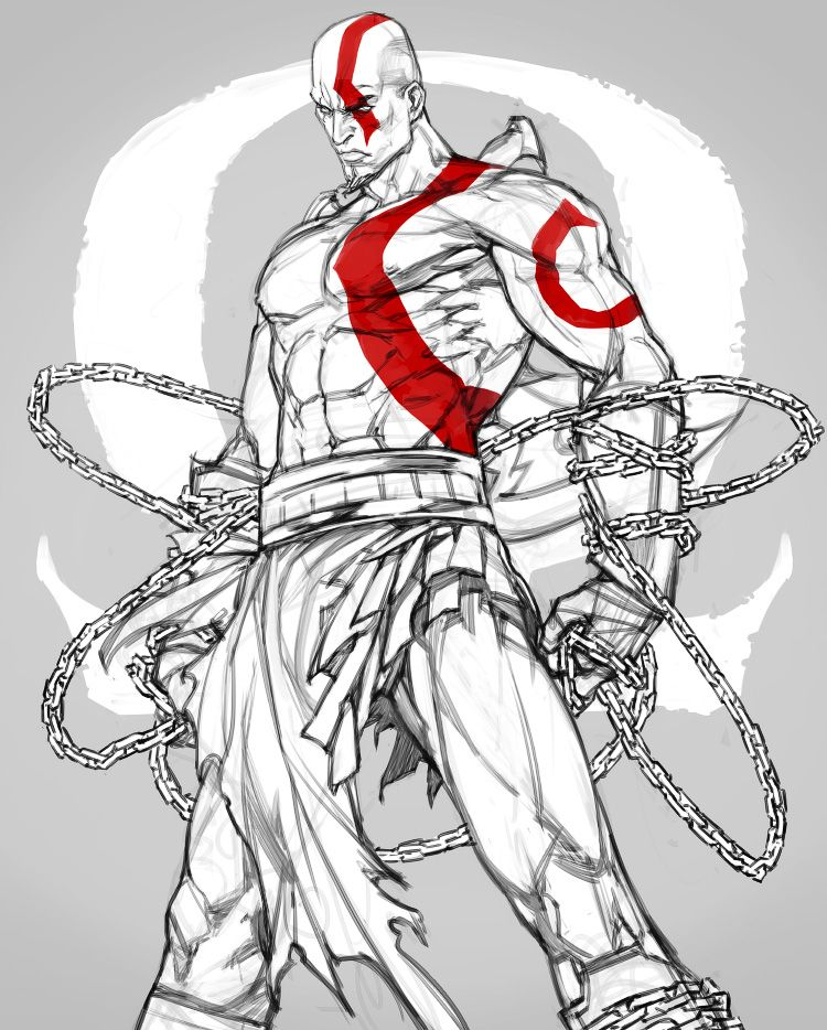 Gow Kratos By Offrecord On Deviantart Characters Kratos God Of