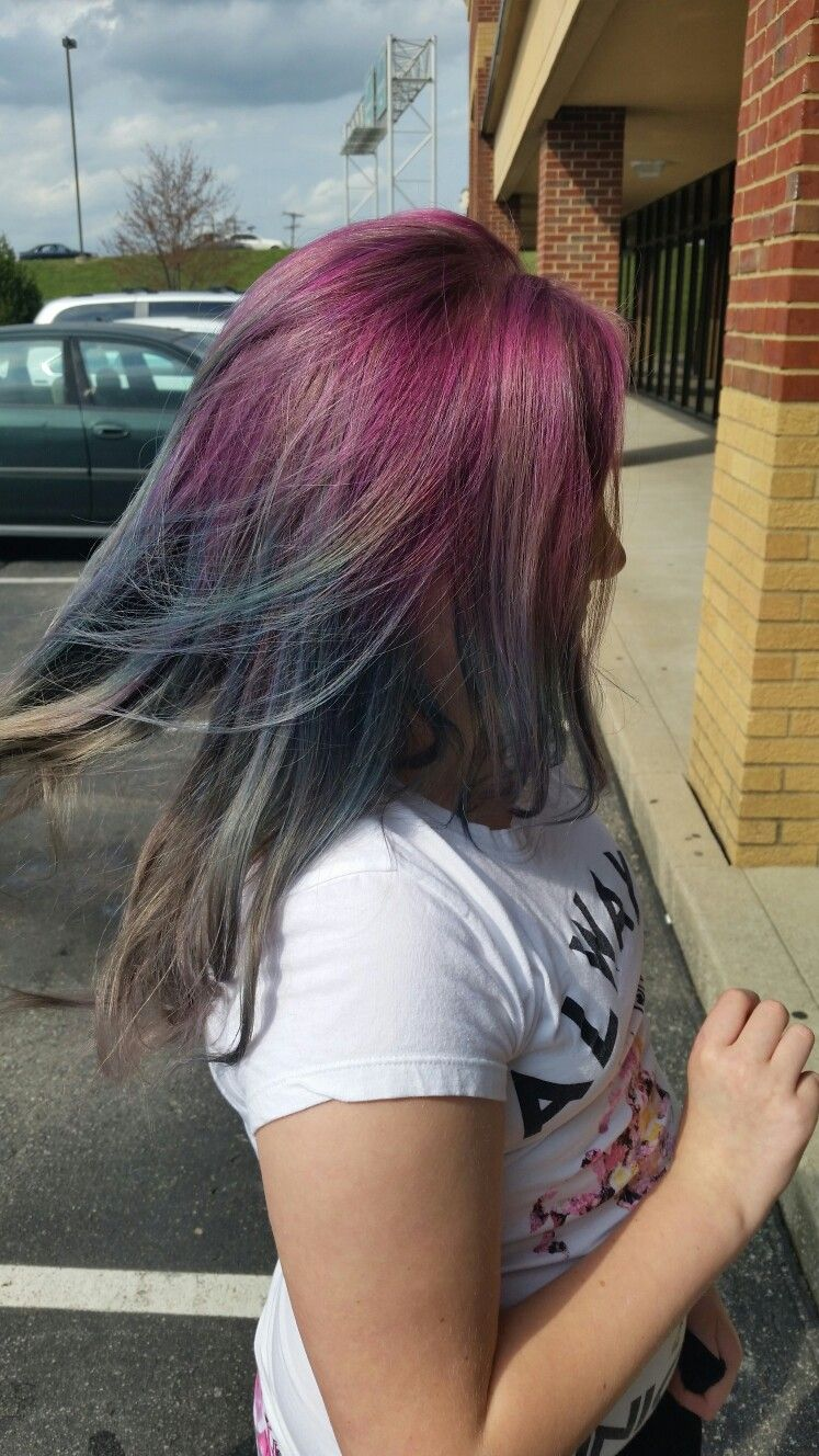 Ombre Rainbow Hair Color Without Bleachcolor Stripping 2017