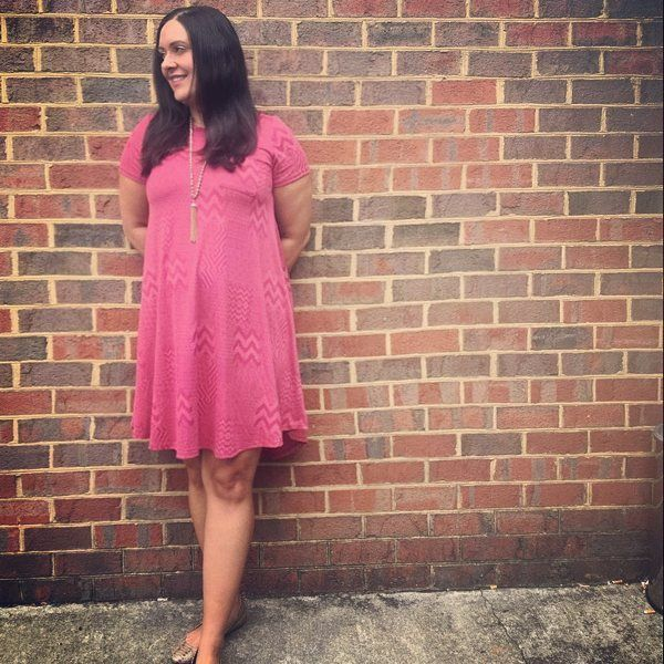 """32 Likes, 3 Comments - Courtney Harwood (@lularoecourtneyharwood) on Instagram: """"I love the Carly Dress. So versatile and can be dressed up or down. #lulalove #lularoeaddict…"""""""