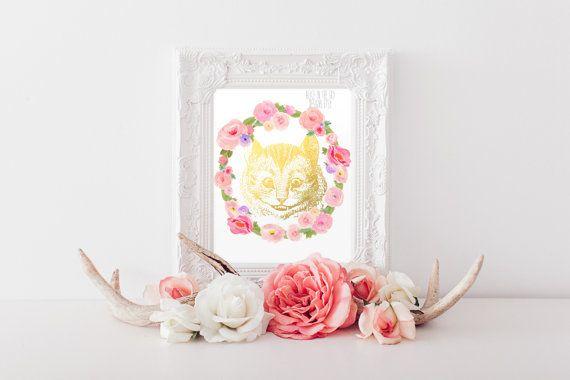Alice in Wonderland Cheshire cat flower by AliceInTheSkyDesigns