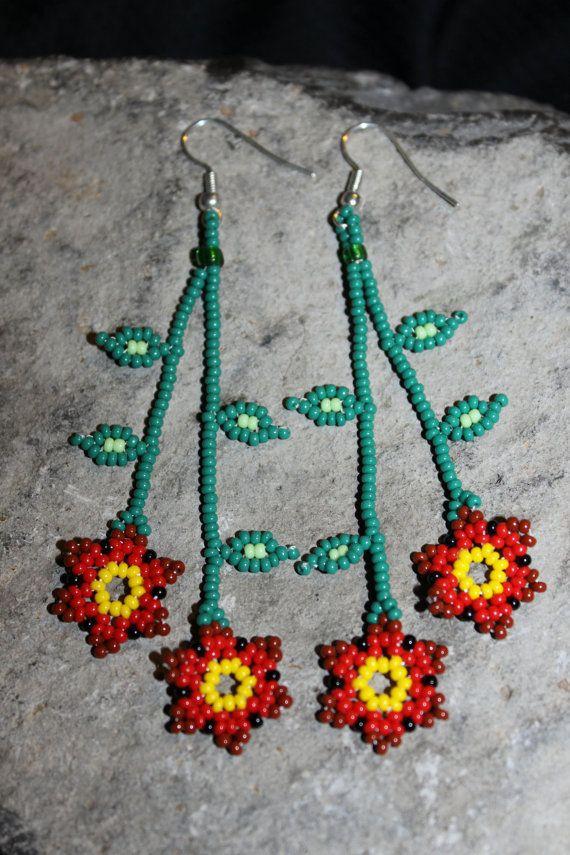 Huichol  Beaded Earrings