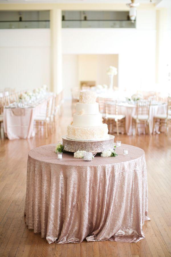 Romantic Blush Ivory Wedding Elizabeth Anne Designs The Wedding Blog Wedding Cake Table Cake Table Wedding Cake Table Decorations