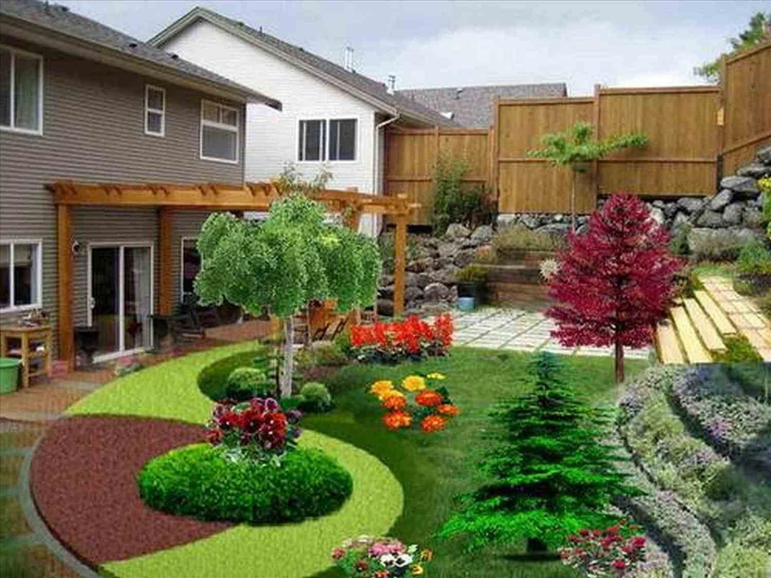 Garden Ideas Driveway Landscape Ideas Front Yard Landscaping With Design And Deco Backyard Garden Design Front Yard Landscaping Design Outdoor Landscape Design