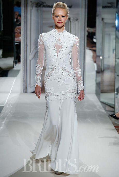 Pnina tornai for kleinfeld 2014 for Kleinfeld wedding dresses with sleeves
