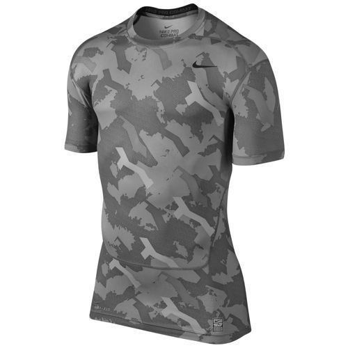 1cd7dd8b81907 MEN'S MEDIUM NIKE PRO COMBAT CORE CAMO COMPRESSION SHIRT T-SHIRT DRI-FIT  GRAY #Nike #BaseLayers