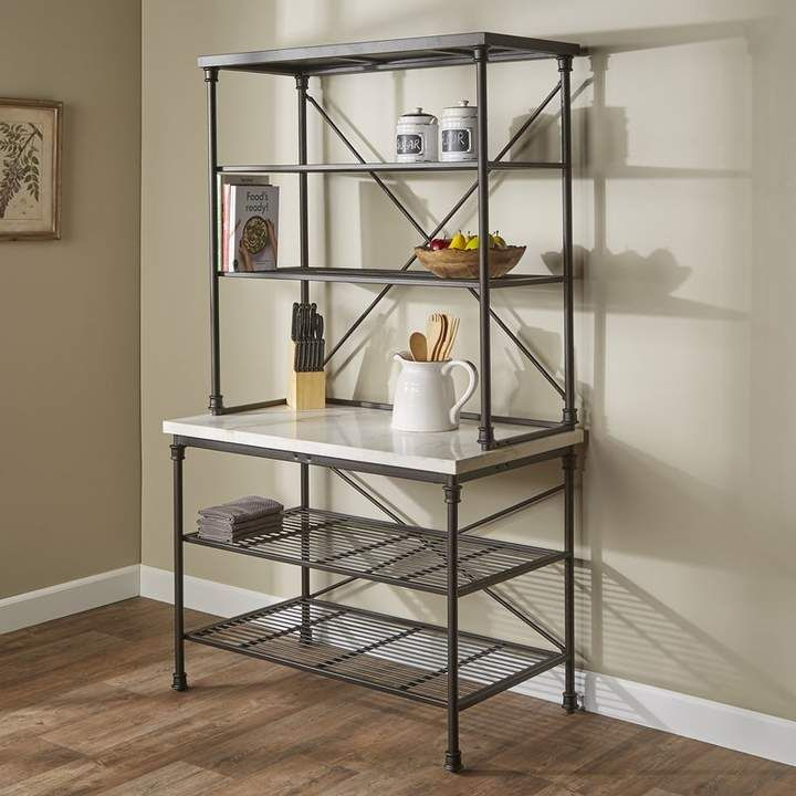 Gracie Oaks Okanogan Steel Baker S Rack In 2019 Bakers Rack