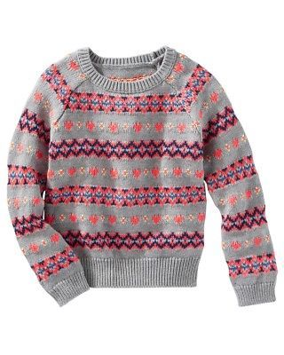 2e4a2bf4e Sweaters 147216  Oshkosh B Gosh Big Girls Fair Isle Sweater