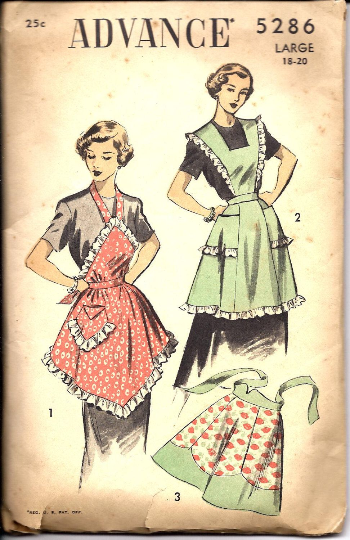 1940\'s Advance Apron Pattern | Sewing Patterns | Pinterest | Nähen