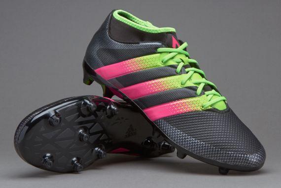 buy popular fb5e1 c403c adidas ACE 16.3 Primemesh FGAG - Core BlackSolar GreenShock Pink