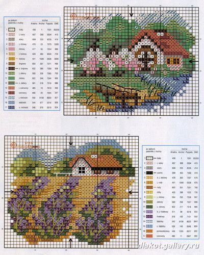 Houses - Casas - Villas - Maisons. Loving Cross Stitch - Picasa Web Albums.