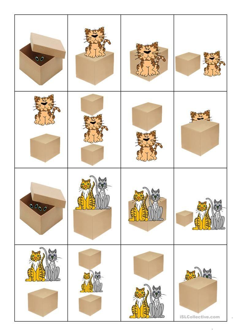 Preposition In Learn In Marathi All Complate: Card Game Prepositions Of Place Worksheet