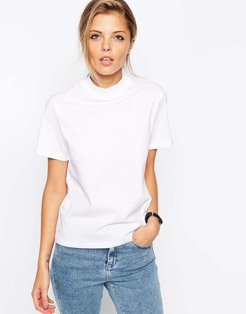 7ef933028 ASOS The High Neck T-Shirt (White) UK/18 EU/46 at ASOS RRP £14.00 ...