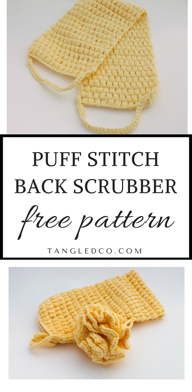 Puff Stitch Back Scrubber