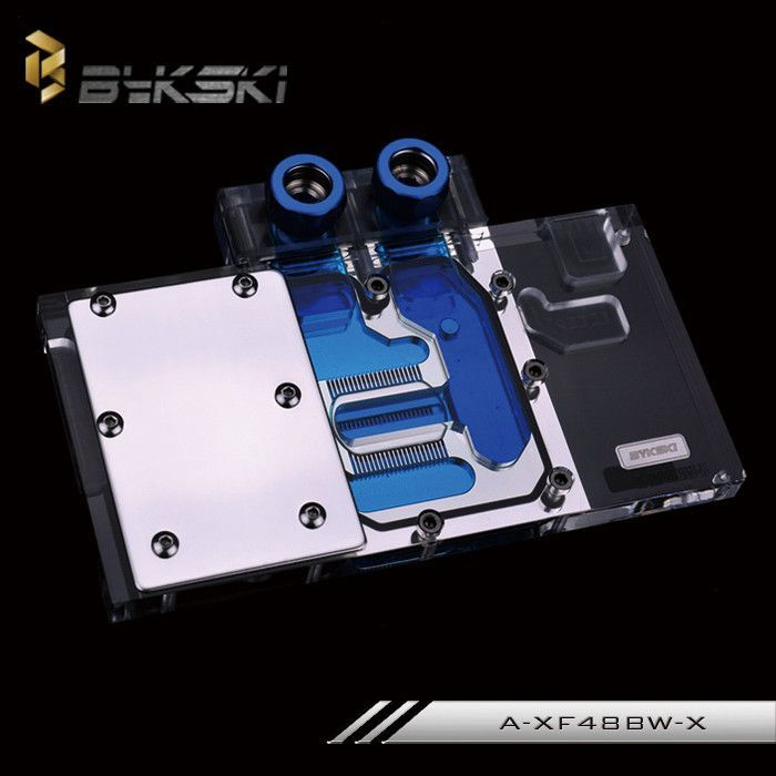 Bykski A Xf48bw X Full Cover Graphics Card Water Cooling Block For