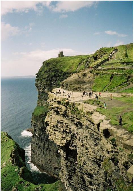 The Cliffs Of Moher are one of the most outstanding coastal