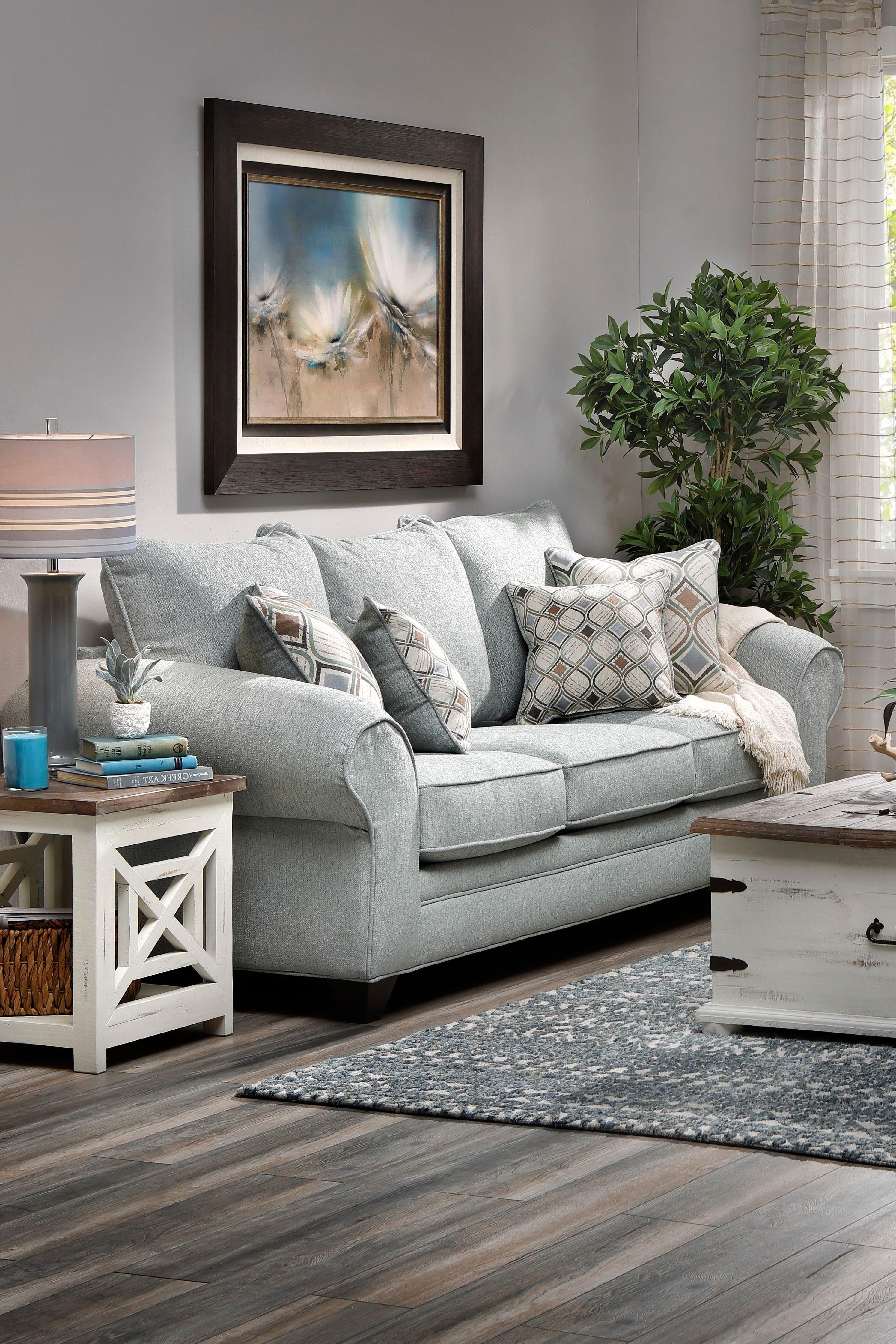 Unique Home Interior Skylar Sofa S Breezy Seating Offers Laidback Vibes In Your Choice Of Cream Or Light Teal Fab In 2020 Cheap Home Decor Rowe Furniture Round Ottoman