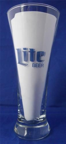 Vintage-Miller-Lite-Beer-Pilsner-Glass-Blue-Logo-10-Oz