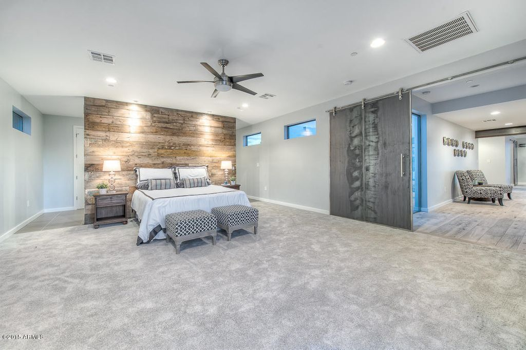Contemporary Master Bedroom With Ceiling Fan Carpet In Scottsdale Az Bedroom Carpet Ceiling Fan Bedroom Grey Carpet Bedroom