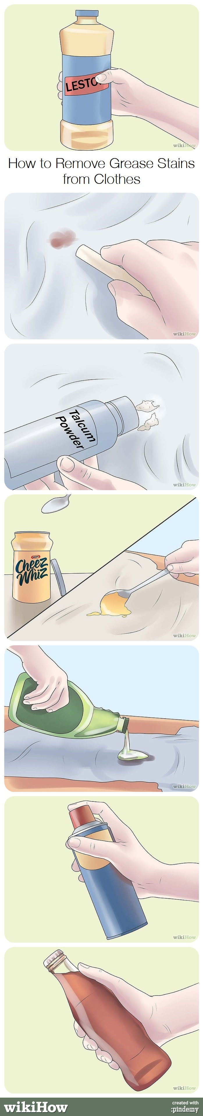 how to get grease stains out