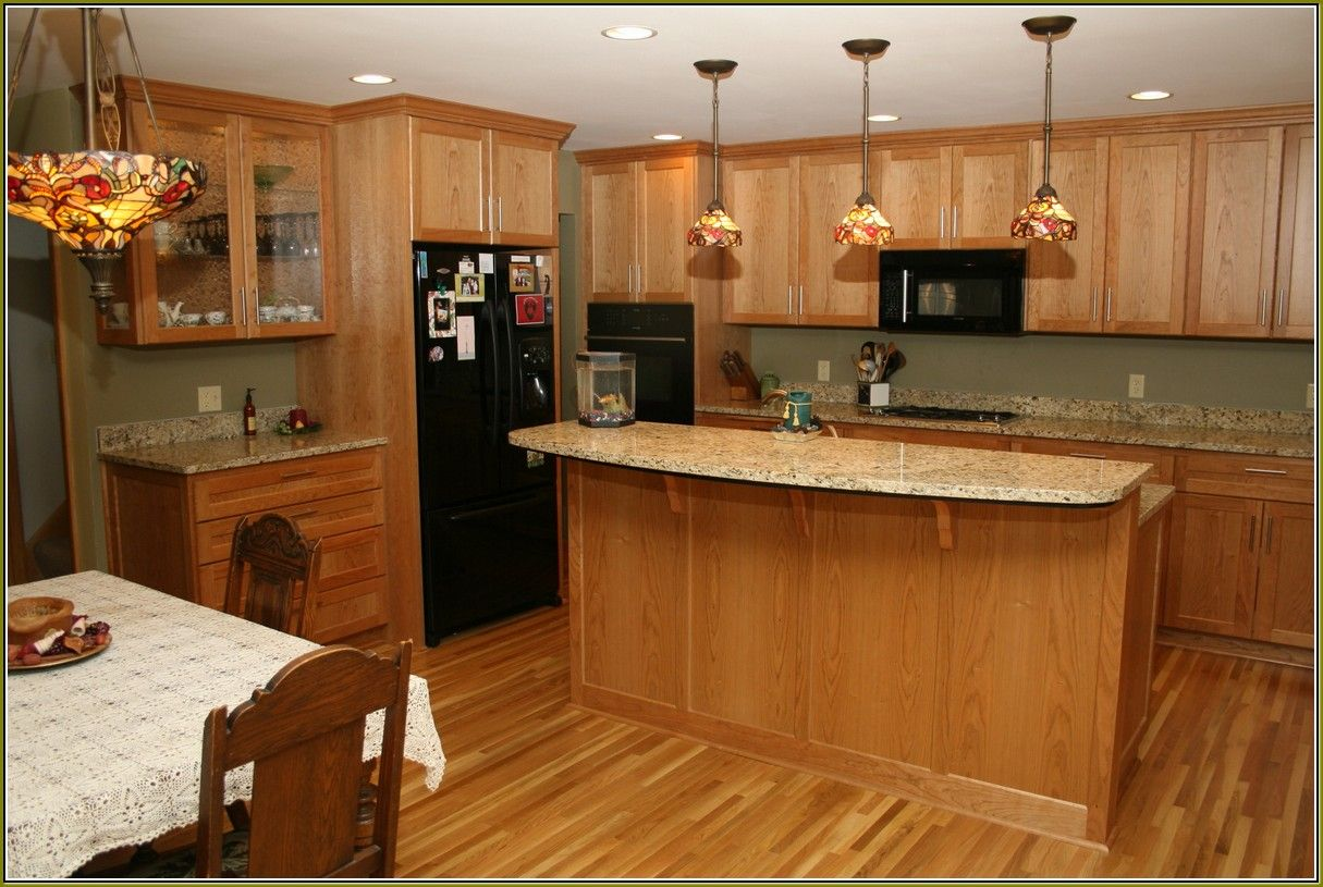 Marvelous Honey Oak Cabinets With Granite
